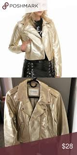 gold faux leather jacket from hot topic