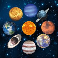 Glow In The Dark Space Planets Wall Stickers For Kids Room Baby Boys Bedroom Fluorescent Luminous Wall Decals Ceiling Decor Wall Stickers Aliexpress