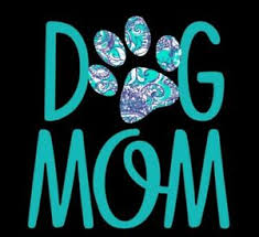 Dog Mom Decal With Blue Teal And White Decorative Paw Print Window Decal Ebay