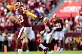 Redskins cornerback Quinton Dunbar ...