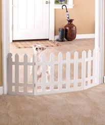 Folding Wooden White Picket Fence Pet Gate Cats Dogs Puppy Kitten Indoor Decor On Popscreen