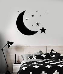 Vinyl Decal Design For Bedroom Moon Stars Sky Wall Sticker Unique Gift Wallstickers4you