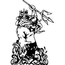Oracal Poseidon Greek God Mythology Decal Wall Art Car Truck Window Vinyl Sticker 6