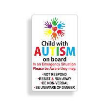 Autistic Sticker Child On Board Autism Awareness Car Vehicle Window Bumper Decal Ebay