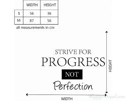 Strive For Progress Quotes Wall Decal Motivational Vinyl Art Stickers