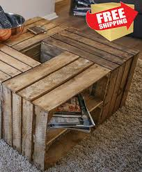 rustic crate coffee table make your
