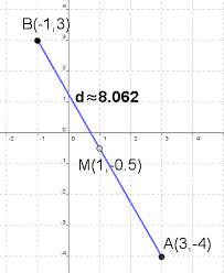 distance and midpoint calculator with