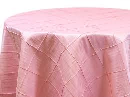 light pink pintuck tablecloth al