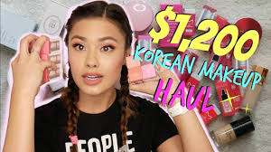 korean makeup haul from yesstyle