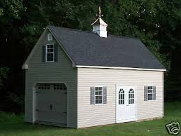 single car 2 story vinyl garage shed