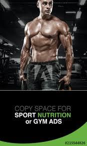 strong muscular bodybuilder athlete