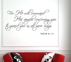 Psalm 91 11 Scripture Bible Verse Wall Decal Nuovocreations