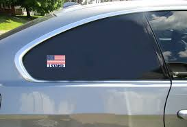 I Stand For The American Flag Sticker U S Custom Stickers