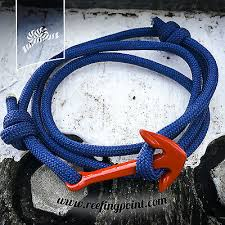 nautical rope bracelet red anchor