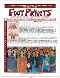Sep'12-Nov'12 - Saint Mark's Sr. Sec. Public Schools