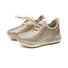 Trẻ Em Giày Bé Gái Đầm Thời Trang Trẻ Em Vàng Bạc Đơn Giản Thoải ...