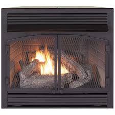 dual fuel fireplace insert zero