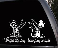 Tinkerbell Angel And Devil Car Window Truck Laptop Vinyl Stickers Decals Ebay
