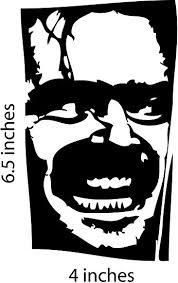 Amazon Com Jack Nicholson The Shining Sticker Cut Vinyl Decal Automotive