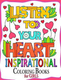 inspirational coloring book for girls motivation quotes design