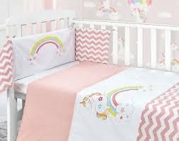 rainbow unicorn baby pink nursery