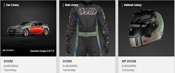 Any Mf Doom Fans Out There Been Uploading Hip Hop Themed Decals And Had Enough Doom Ones To Just Make A Whole Doom Setup Granturismo