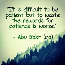 kudap kudap cinta islamic art and quotes patience abu bakr