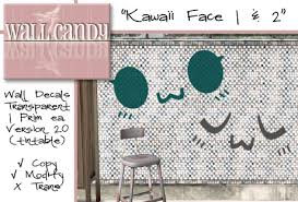 Second Life Marketplace Wall Candy Wall Decal Kawaii Face 1 2