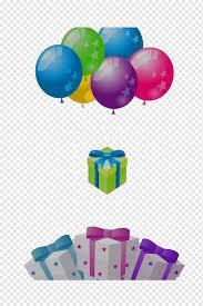 balloon gift box gratis multicolored