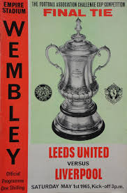 Leeds United v Liverpool FA Cup Final 1965 1st May - VG Condition
