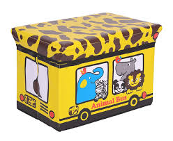 Portable And Foldable Kids Cloth And Toy Storage Box And Ottoman Seat For Kids Room The Treasure Box