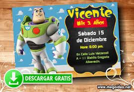 Buzz Lightyear Invitaciones De Toy Story Mega Idea