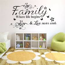 Family Love Tree Quotes Wall Sticker Art Living Room Removable Decals Home Decor Sale Banggood Com