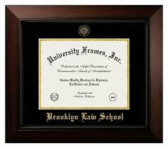brooklyn law diploma frame in