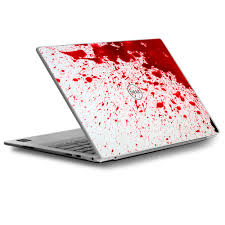 Skin Decal For Dell Xps 13 Laptop Vinyl Wrap Blood Splatter Dexter Walmart Com Walmart Com