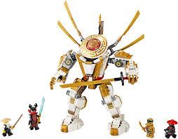 LEGO 71702 NINJAGO Legacy Golden Mech Action Figure with Lloyd, Wu ...