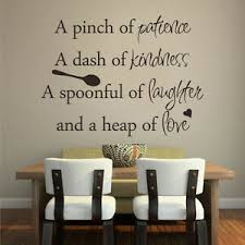 A Pinch Of Patience Wall Sticker Inspired Emerson Kitchen Room Quote Vinyl Decor Ebay