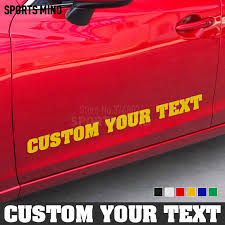Custom Text Car Sticker Decal Jdm Car Styling Front Windshield Body Car Decal Stickers For All Car Exterior Accessories Car Stickers Aliexpress