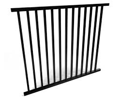 2 Rail Smooth Top Aluminum Fence Panel Fence Workshop