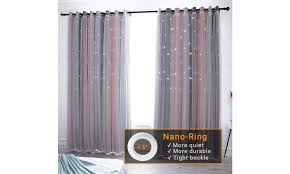 Up To 19 Off On Star Curtains Stars Blackout Groupon Goods