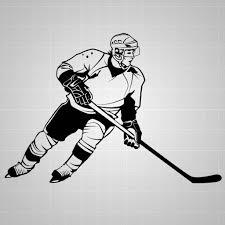 Hockey Player Wall Decal Hockey Wall Sticker Hockey Decal 32 Ebay