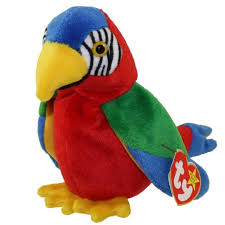 ty beanie baby jabber the parrot 6 5