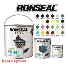 Ronseal Garden Paint 2 5 Litre For Wood Metal Brick Shed Fence 2 5l Ebay