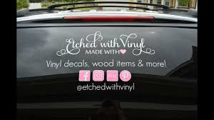 How To Apply A Large Car Decal Using The Hinge Method Youtube