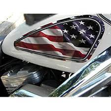 Amazon Com East Coast Vinyl Werkz American Flag 2 Pc Fuel Tank Decals For Harley Davidson Sportster Automotive
