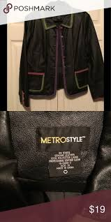 metro style suede and leather jacket
