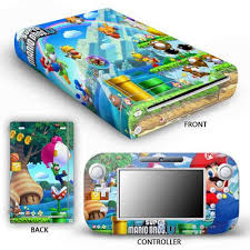 Wii U Console Controller Protector Skin Sticker Super Mario Bros U In 2020 Mario Wii Video Games Pc Wii Accessories