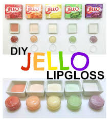diy jello lip gloss inspiration made