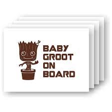 Amazon Com Baby Groot On Board Vinyl Car Decal Handmade