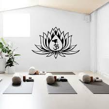 Lotus Flower Yoga Wall Sticker Vinyl Yoga Gym Art Silhouette Meditation Wall Decor Decal For Yoga Decoration Removabel Z654 Wall Stickers Aliexpress